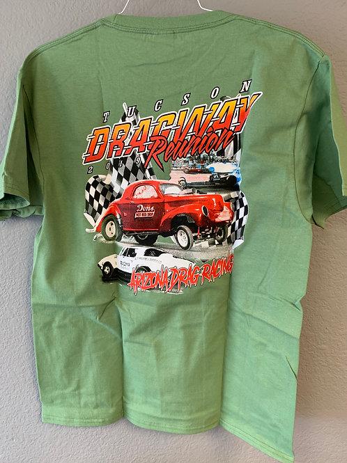 2019 Tucson Dragway Reunion Green Shirt