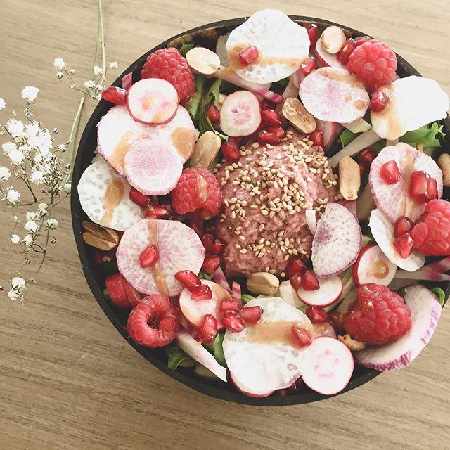 Notre salade rose à la carte cette semai