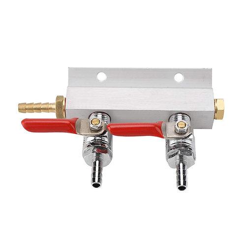 Conector doble para CO2