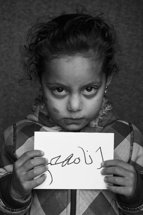 Zaynab, 6 yrs old, Mória refugee camp, Lesvos, Greece, 2020