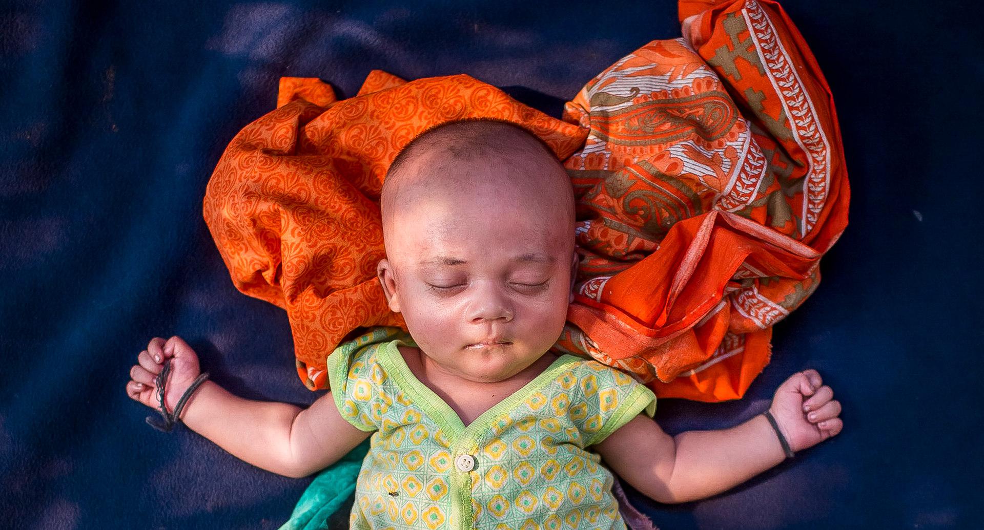 Born Refugee: Unnamed, 18 day old, born in Balukhali Rohingya refugee camp, Cox's Bazar, Bangladesh, 2017