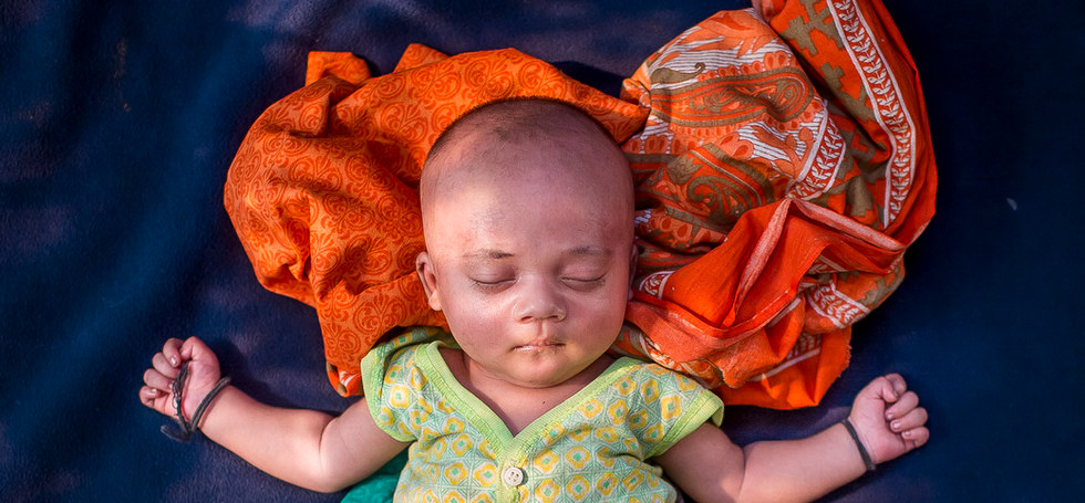 Born Refugee: Unnamed, 18 day old, born in Balukhali Rohingya refugee camp, Cox's Bazar, Bangladesh, 2017