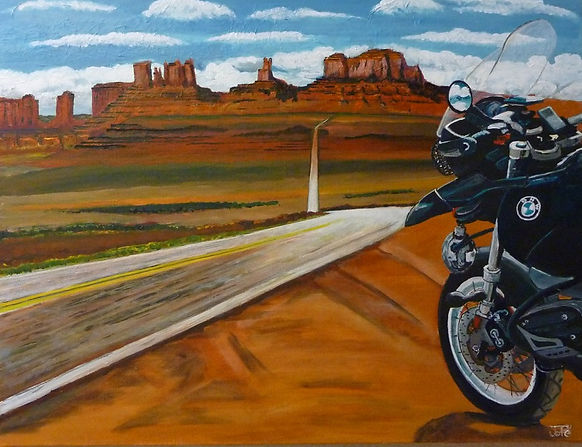 USA, monument valley, moto, bmw, road