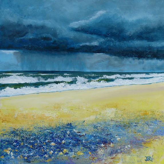 grain, plage, tempête, anglet