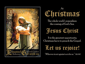 Christ, Santa and a Godly opportunity!
