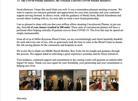 Miller-Keystone Blood Center thanks CPI and their donors