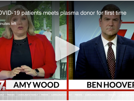 Watch plasma recipient thank her donor