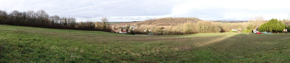 Terrain vue du sud