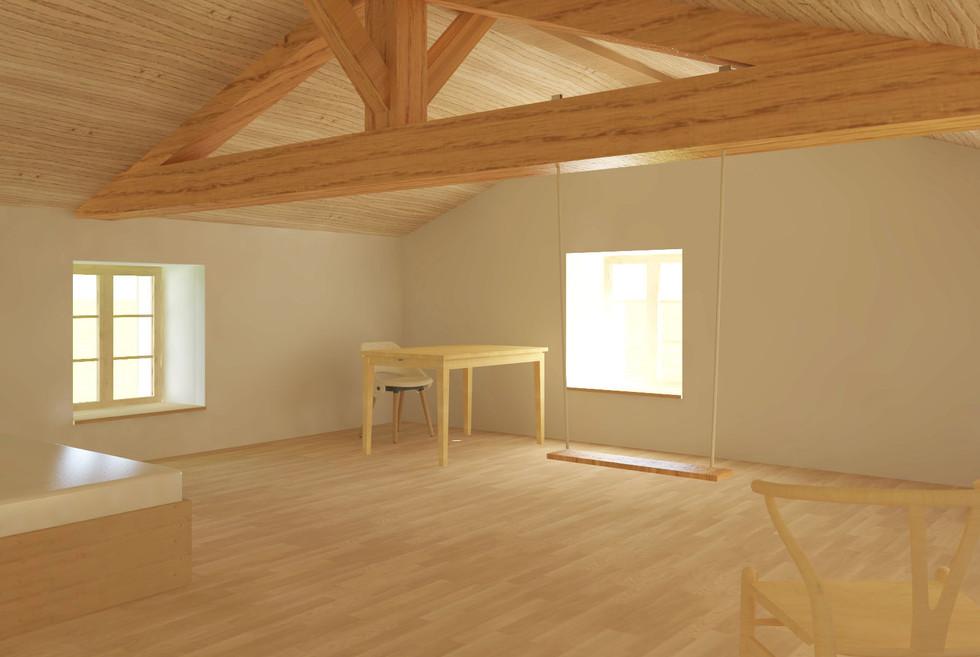 chambre 4 2ème étage - maison à balet