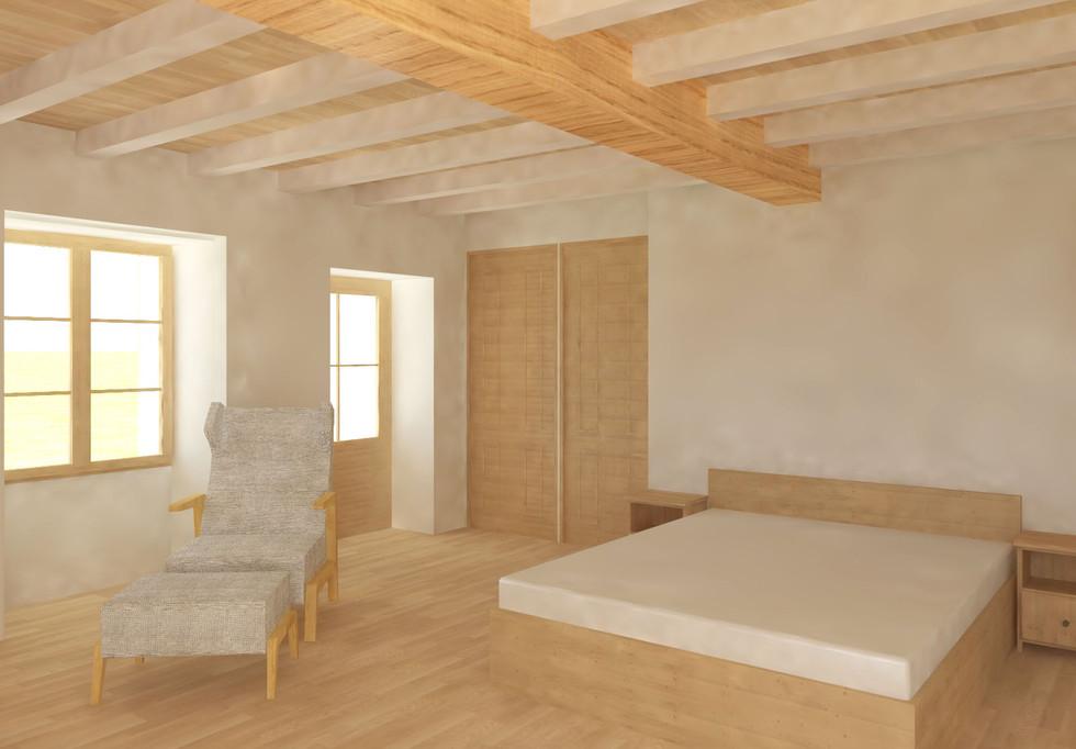 chambre 1er étage - maison à balet