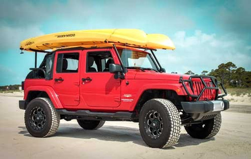 Watersports adventure rack with led light bar jeepbackbone watersports adventure rack with led light bar mozeypictures Image collections