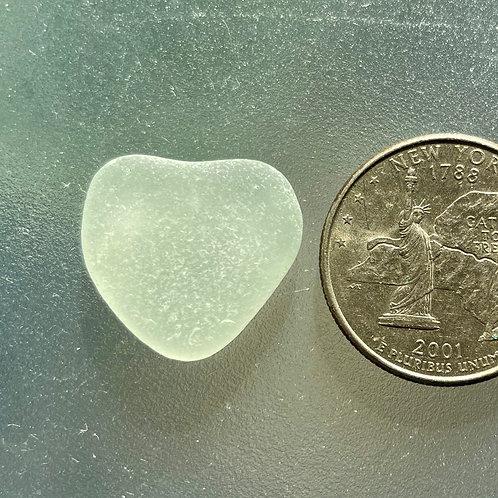 Genuine Seafoam Heart Shaped Sea Glass #67