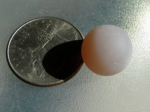 Authentic Solid Opalescent Lavender Sea Glass Marble #47