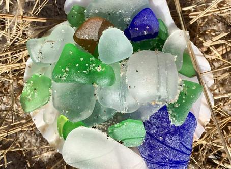 Beautiful beach combed sea glass found on Long Island 2018