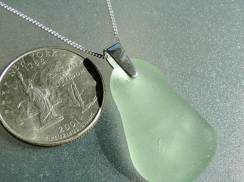 Sterling Silver Bail Seafoam Sea Glass Necklace #8