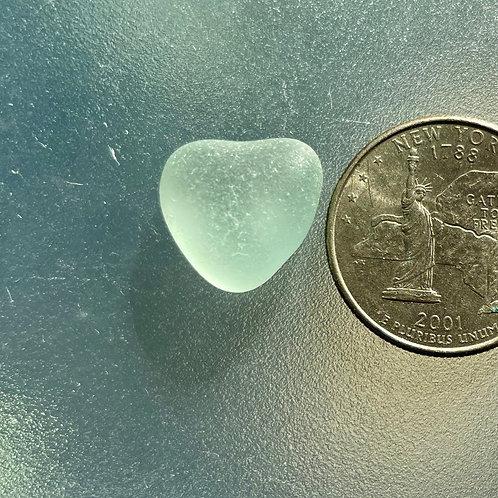 Genuine Seafoam Heart Shaped Sea Glass #27