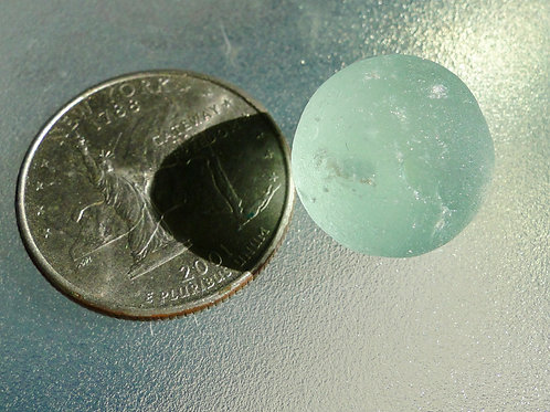 Authentic Solid Seafoam Sea Glass Marble #41