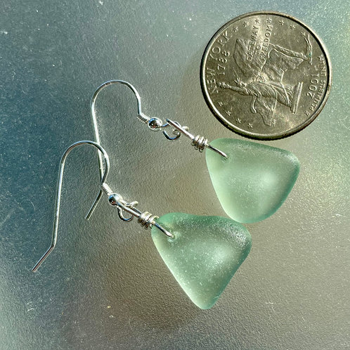 Alluring Seafoam Sea Glass Earrings #27