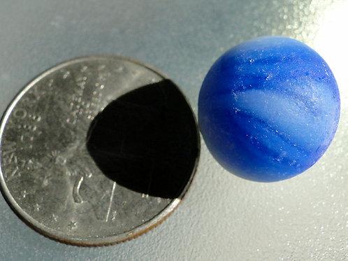 Authentic Blue White Swirl Sea Glass Marble #43