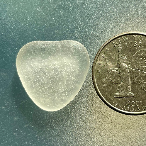 Genuine White Heart Shaped Sea Glass #66