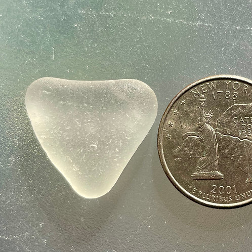 Genuine White Heart Shaped Sea Glass #64