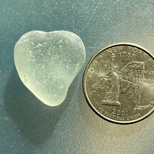 Genuine Gray Heart Shaped Sea Glass #51