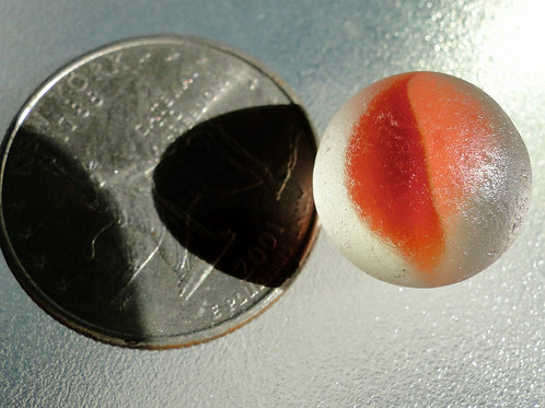 Authentic Red Sea Glass Cateye Marble #13