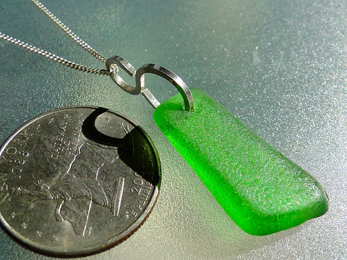 Kelly Green S Bail Sea Glass Necklace #2