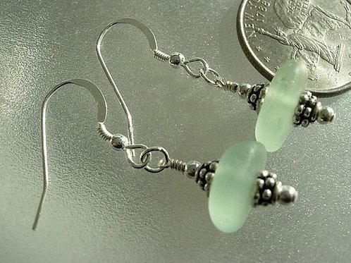 Drop Seafoam Sea Glass Earrings #4