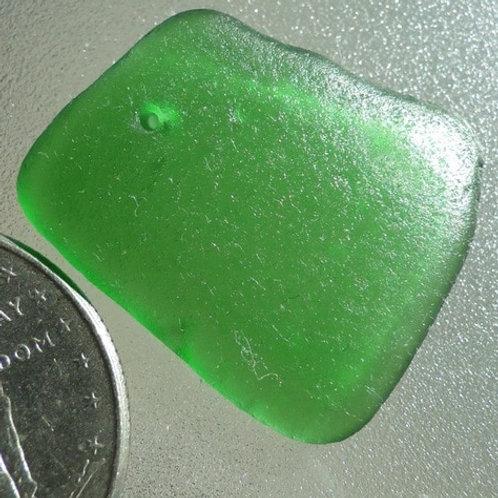Drilled Sea Glass Shard #106