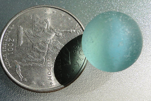 Authentic Turquoise Sea Glass Cateye Marble #22