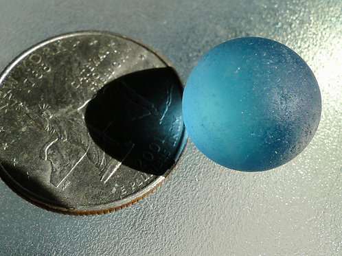 Authentic Solid Blue Sea Glass Marble #39