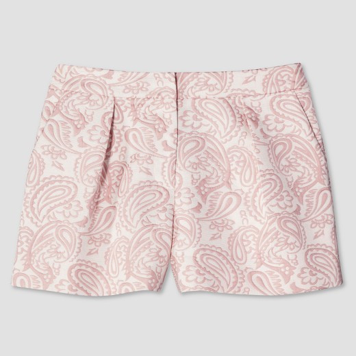 English Lace - Women's Blush Floral Pleated Jacquard Short - Victoria Beckham for Target