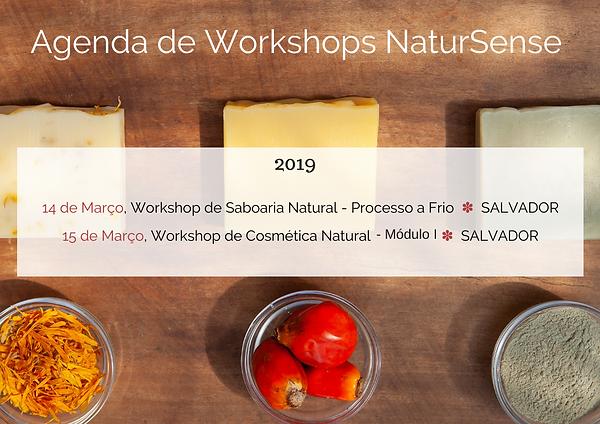 Agenda de Workshops de Saboaria Natural