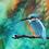 Thumbnail: Kingfisher on Blue