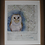 Thumbnail: Barn Owl on vintage map of Derbyshire
