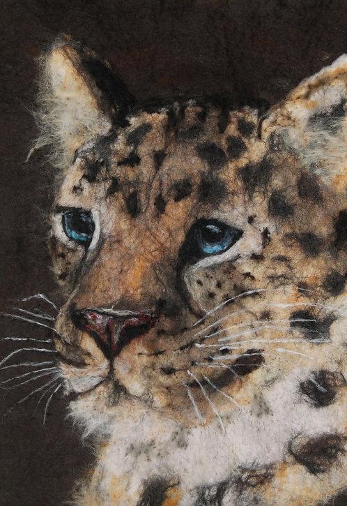 Study of an Amur Leopard in Wool