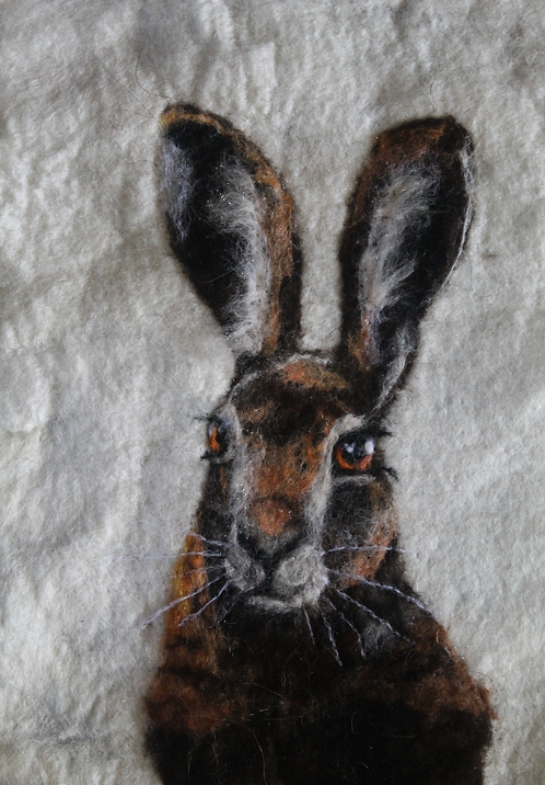 Study of a Hare in Wool