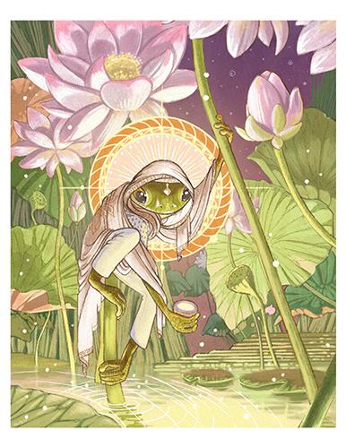 Bheki the Sun Frog Print
