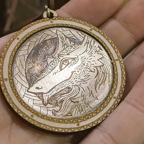 Contact us first- Custom Etched Brass Pendant
