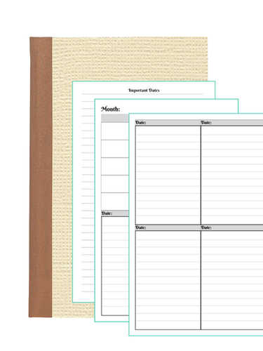 Fillable Planner Refill