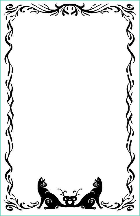 Cat Border Blank Refill 6x9