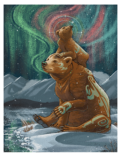 Aurora Bears Print