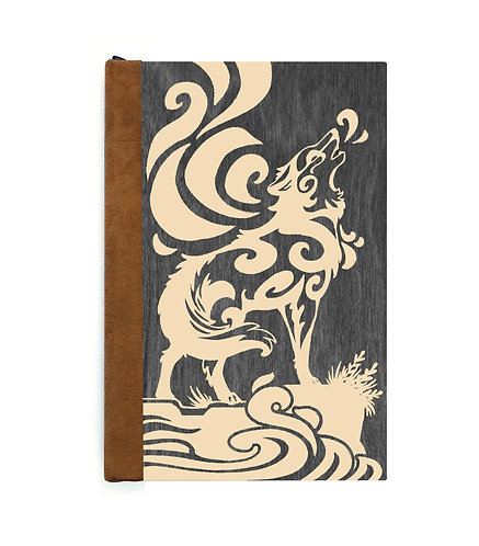 Step 3: Customize 6x9 Howling Wolf Magnetic Journal