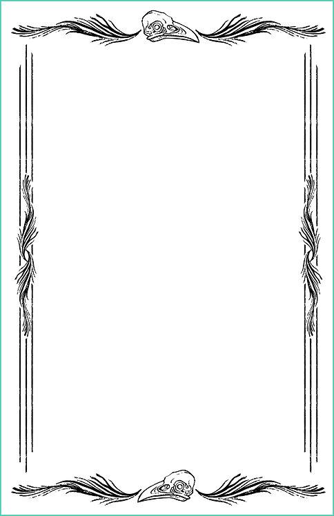 Raven Border Blank Refill 6x9