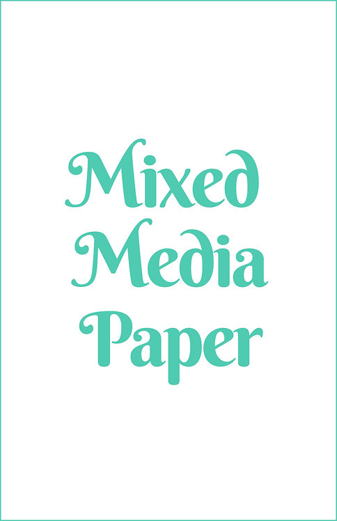 Mixed Media Paper Blank Magnetic Journal Refill