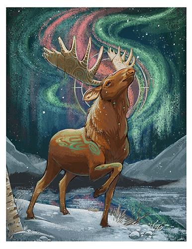 Aurora Moose Print