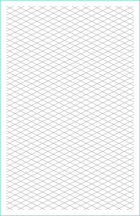 Isometric Grid Magnetic Journal Refill