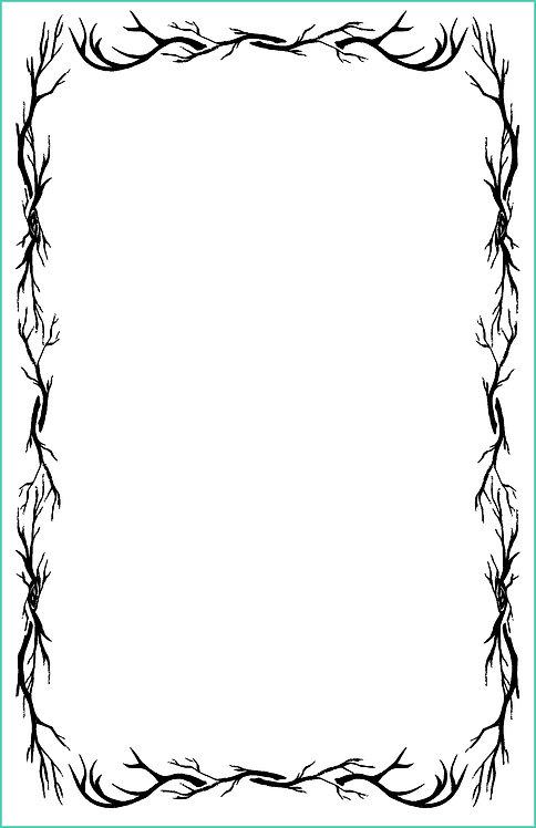 Antler Border Blank Refill 6x9