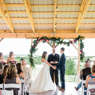 wedding bride and groom ceremony